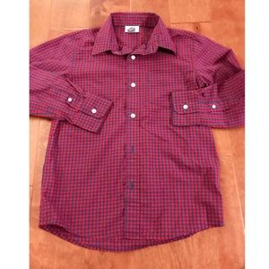 Old Navy Red & Blue Checked Button Up
